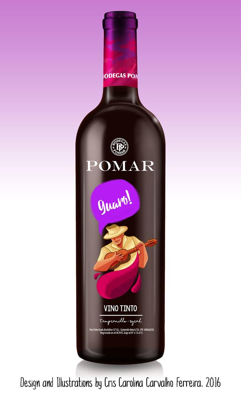 Illustrated Branding: Varietales Pomar 1