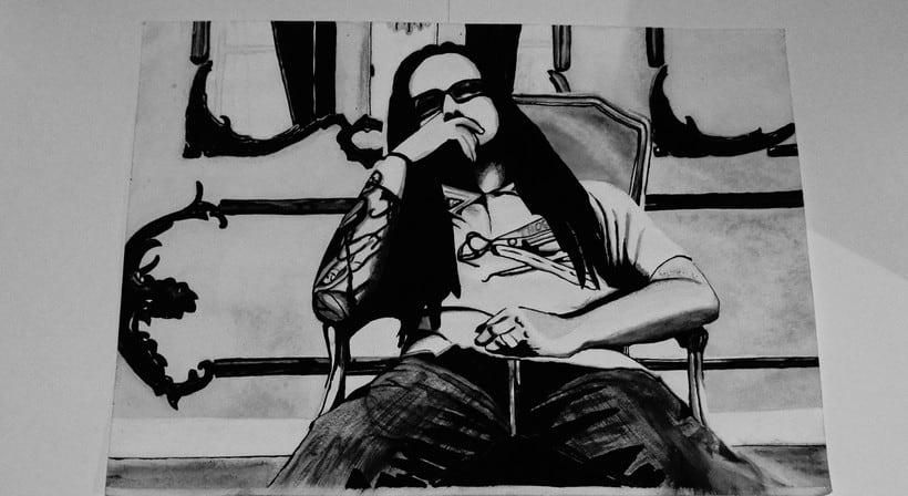Johnathan Davis Korn - Acuarela y Lapiz -1