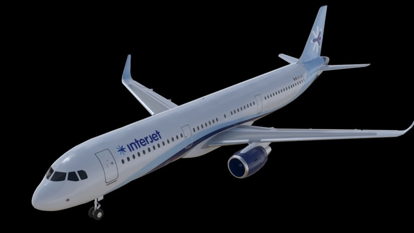 Interjet - Low poly airplanes 1