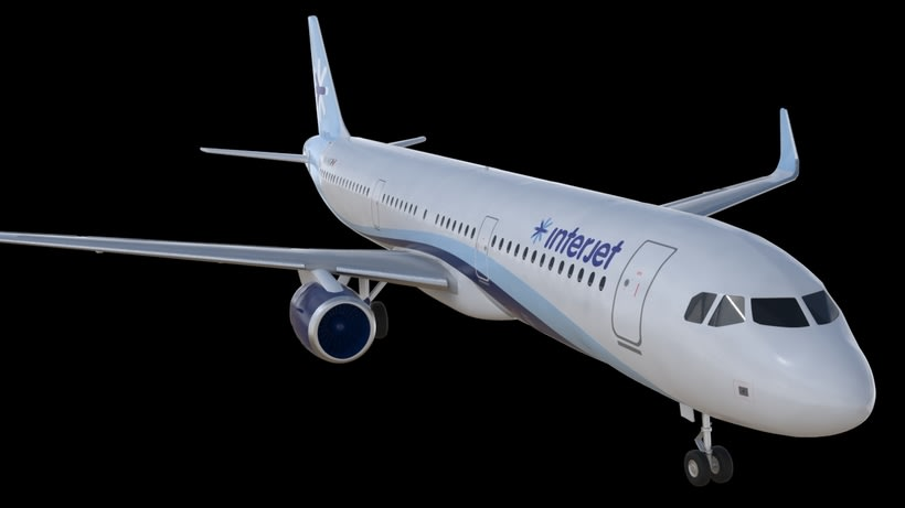 Interjet - Low poly airplanes 2