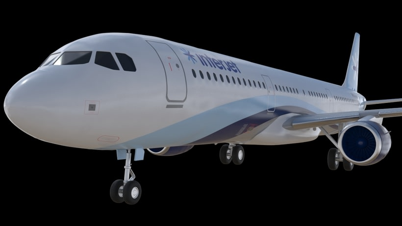 Interjet - Low poly airplanes 4