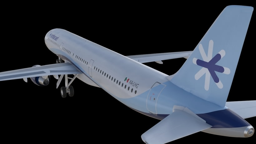 Interjet - Low poly airplanes 5