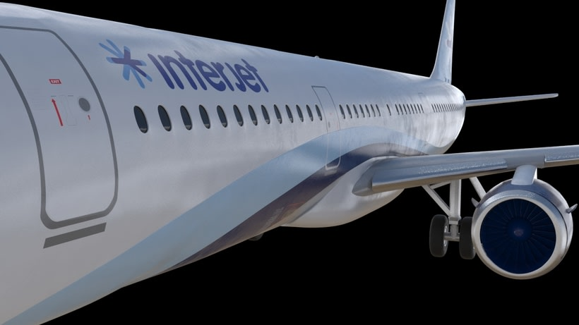 Interjet - Low poly airplanes 6
