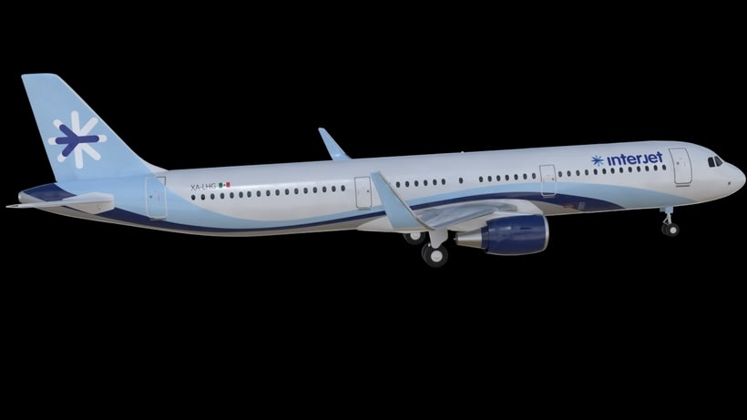 Interjet - Low poly airplanes 9