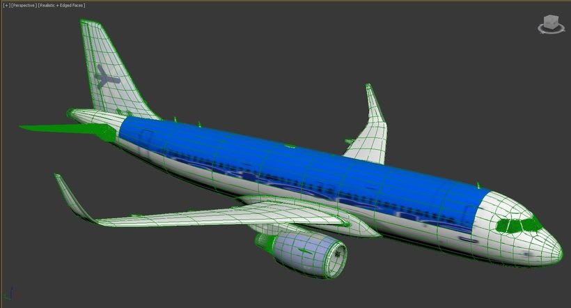 Interjet - Low poly airplanes 10