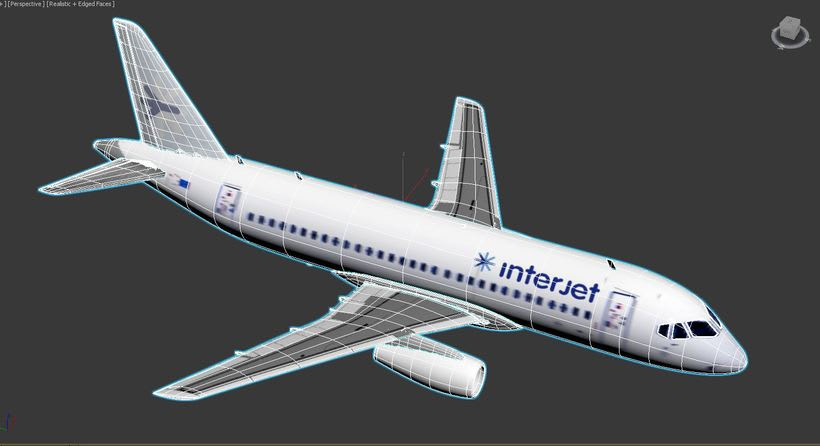 Interjet - Low poly airplanes 12