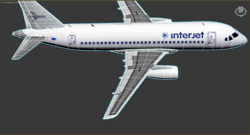 Interjet - Low poly airplanes 14
