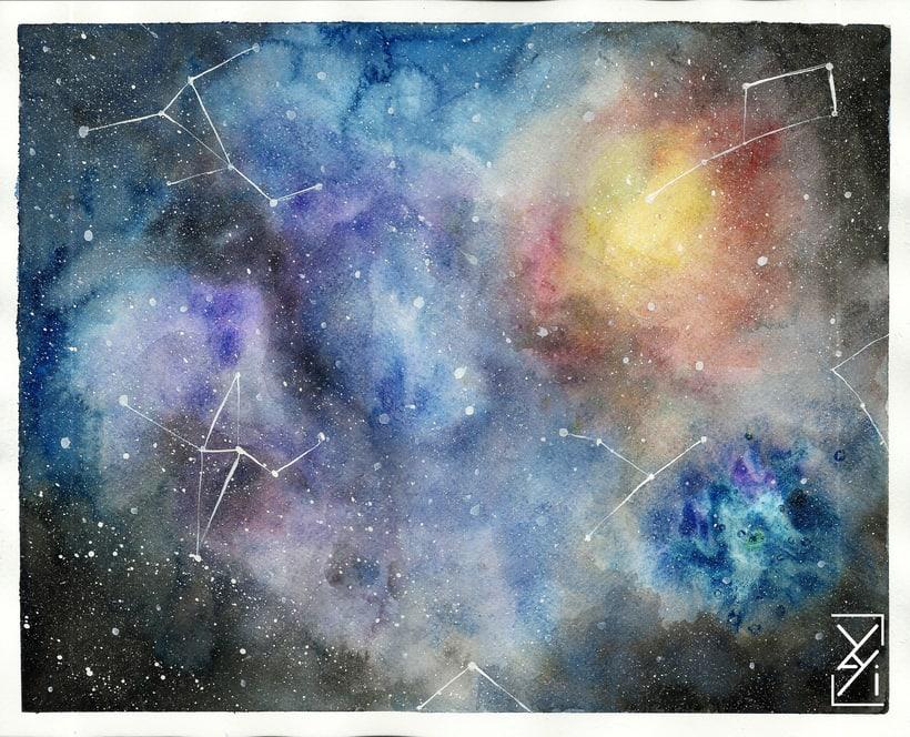 Mi Galaxia del curso >> Técnicas modernas de Acuarela -1