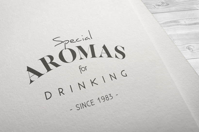 Aromas for Drinking: Naming & Packaging Design 0