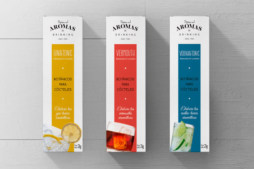 Aromas for Drinking: Naming & Packaging Design 6