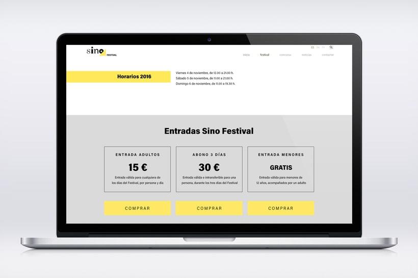 Sino Festival: Dirección de arte, naming, branding, diseño editorial y diseño web 15