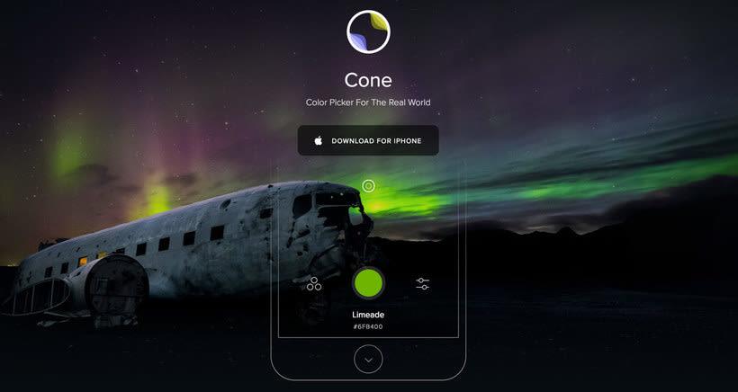 'Cone', una app para capturar los colores de la vida real 5