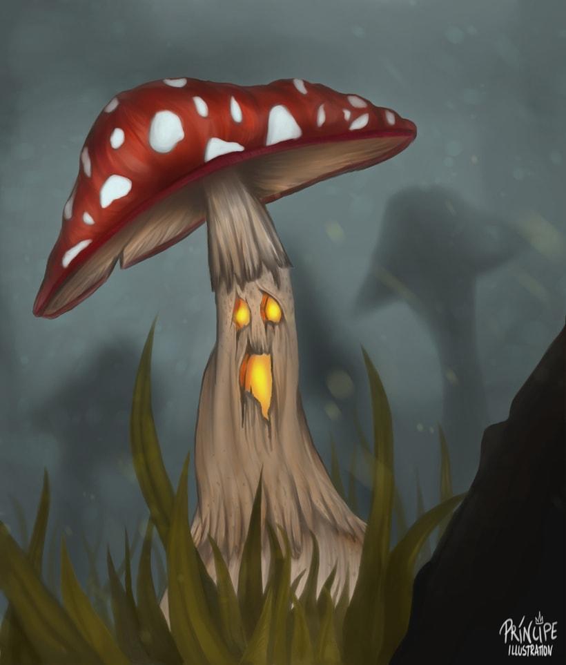 Halloween mushroom 0