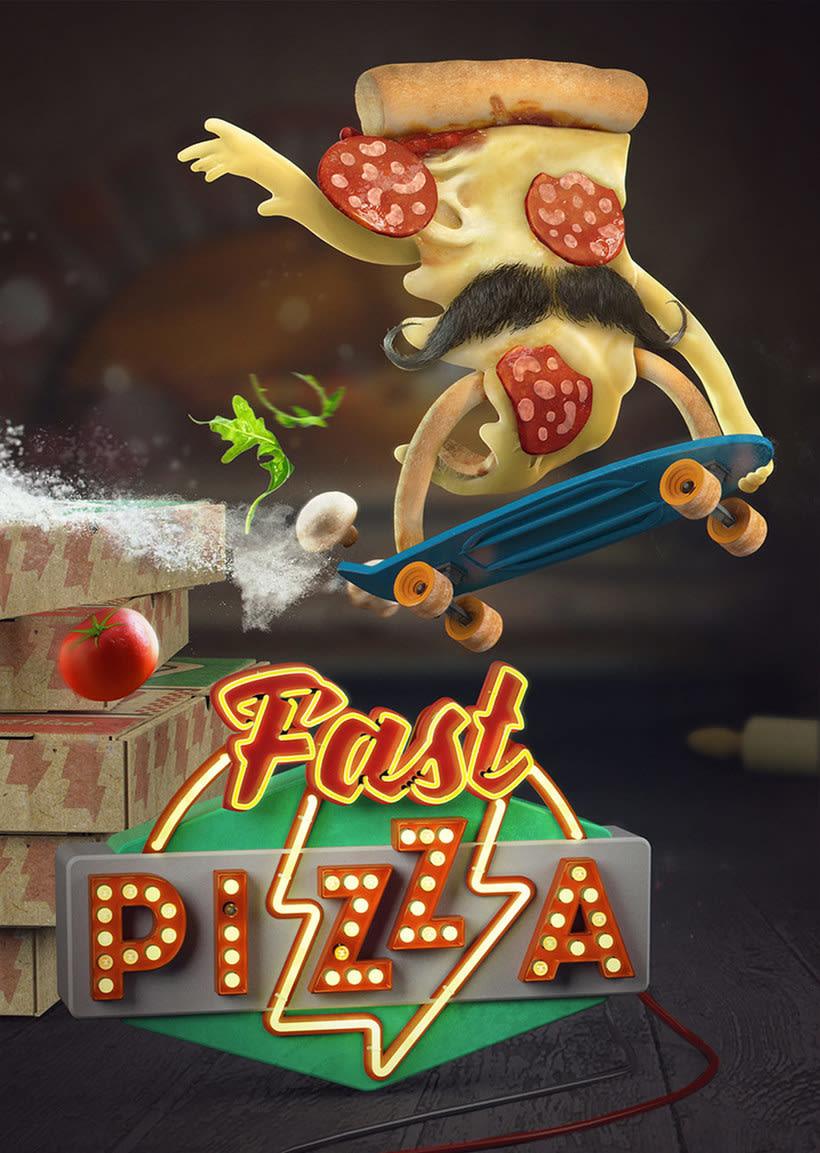 10 diseños con la pizza como protagonista 2