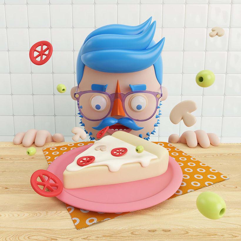 10 diseños con la pizza como protagonista 10