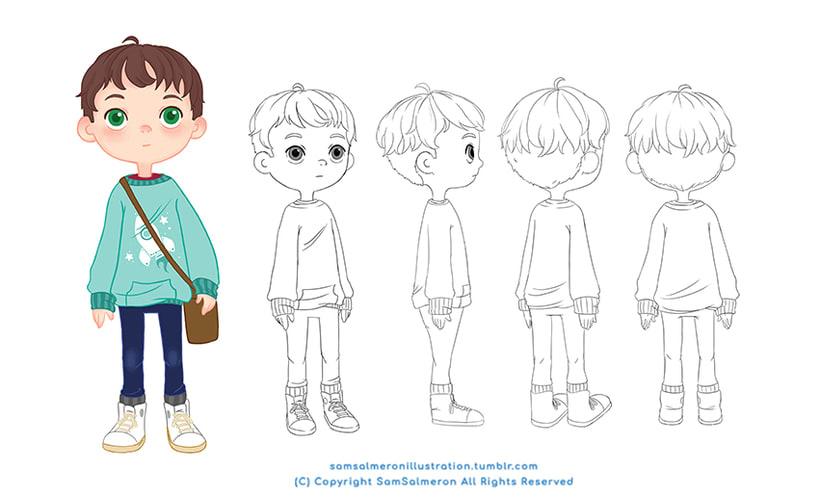 Desarrollo Visual / Diseño de Personajes / Ilustración 1