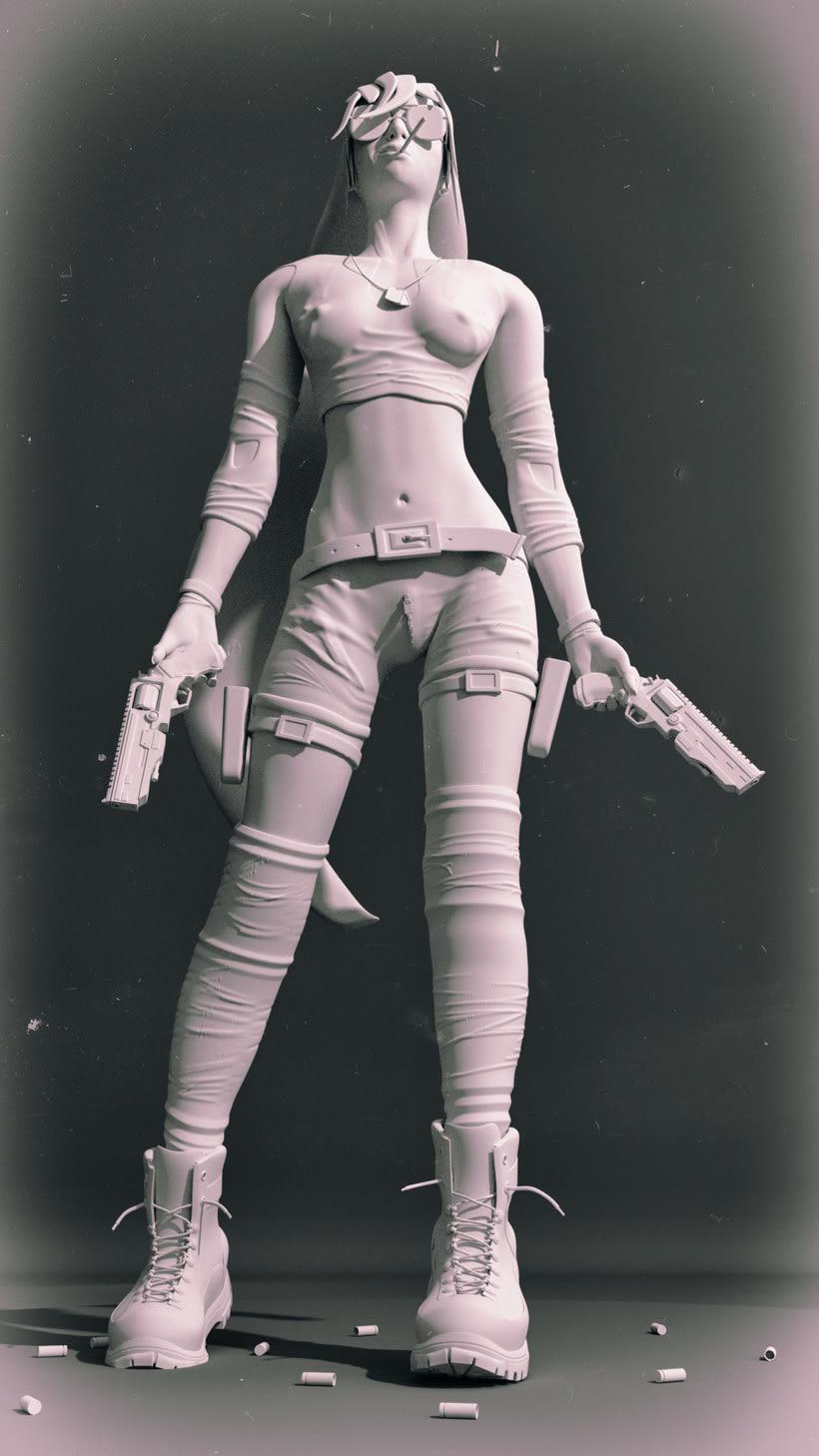 Blender Sculpt - GunGirl 1