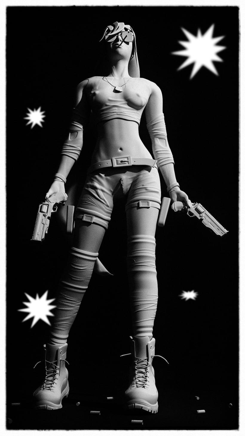 Blender Sculpt - GunGirl 2