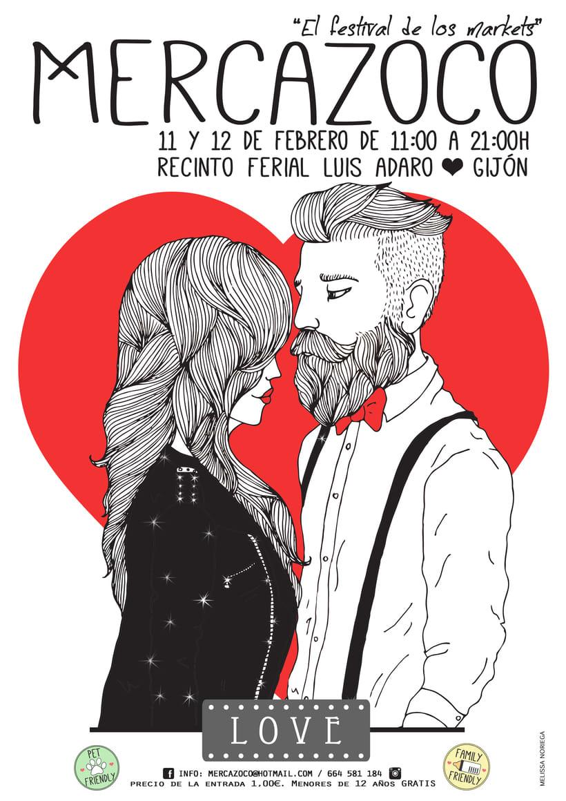 Ilustración para el cartel de Mercazoco (febrero 2017) 1