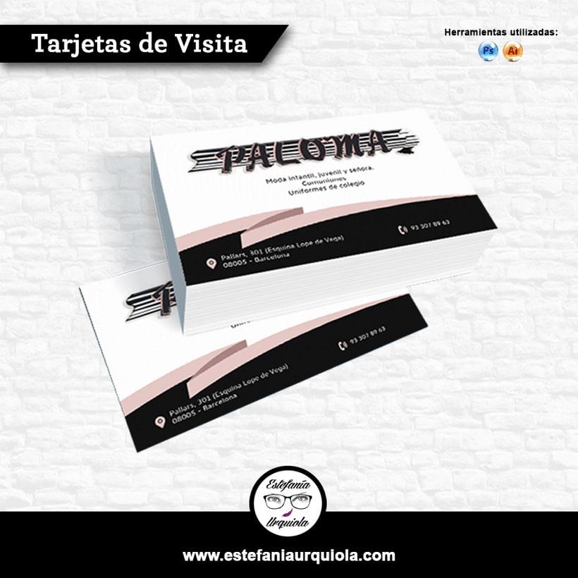 Tarjetas de visita. Vectorización del logo. -1