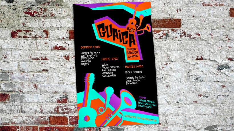 GUAICA MUSIC FESTIVAL - Brand DesignNuevo proyecto 1