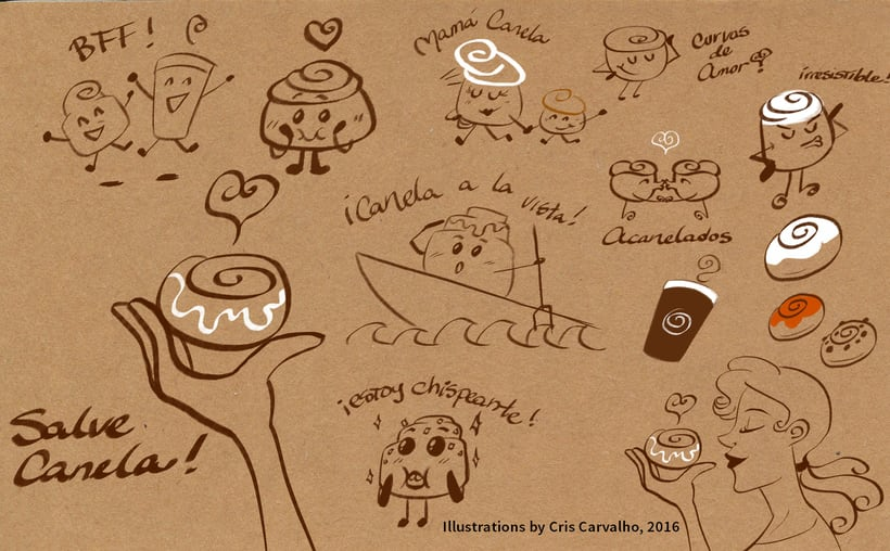 ACANELADO: Illustrated Branding and Character Design 1
