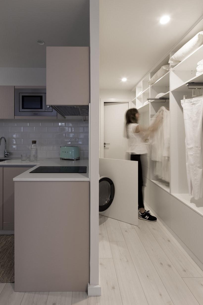 Fotos de interior del mini Loft diseñado por Zetas Studio  2