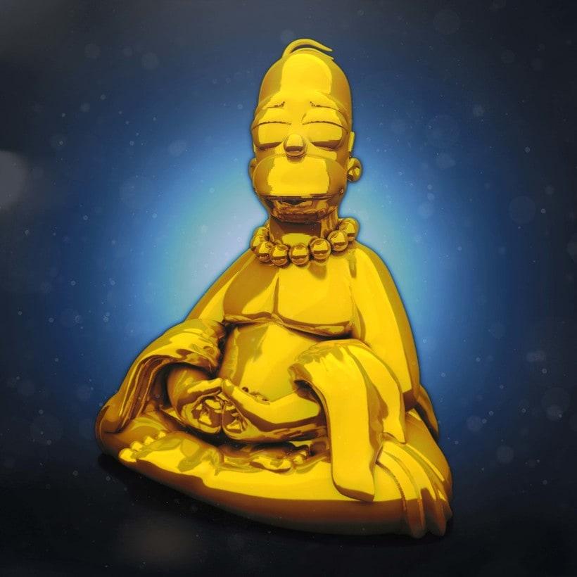 Buddha Homer -1