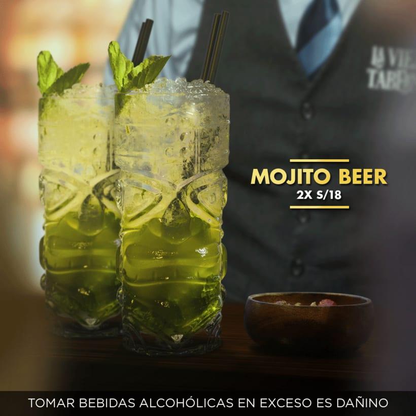 """Fotomontaje - Publicidad en facebook para """"La Vieja Taberna Bar"""" -1"""