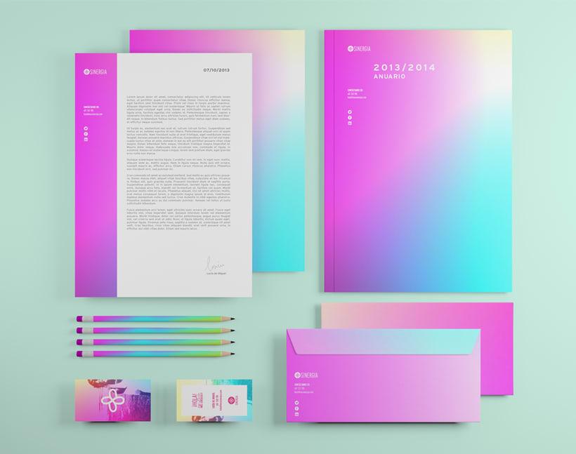 + SINERGIA · Brand Identity Design 2