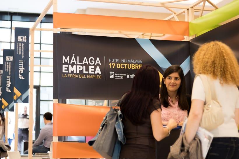 DISEÑO STANDS DE MADERA Y LONAS Málaga Emplea 2017 4