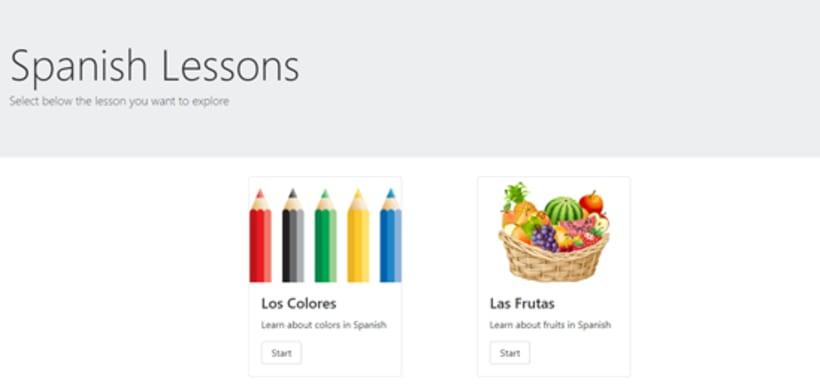 Spanish lessons - Proyecto en ReactJS -1