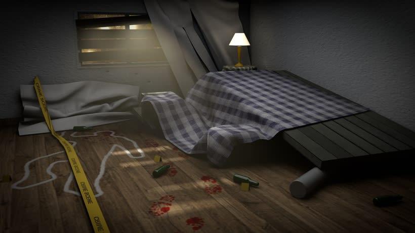 Escenario interior 3D -1