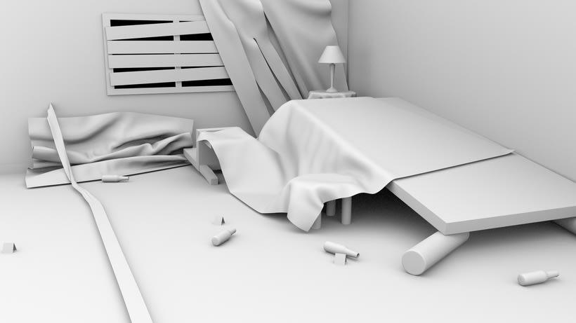 Escenario interior 3D 0