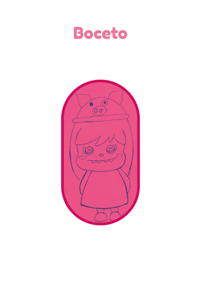 Mi Proyecto del curso: Crea un Art Toy - Piggy  0