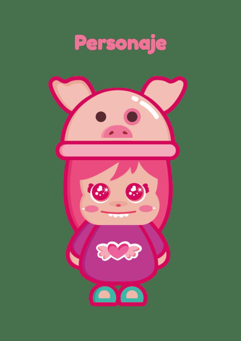 Mi Proyecto del curso: Crea un Art Toy - Piggy  1
