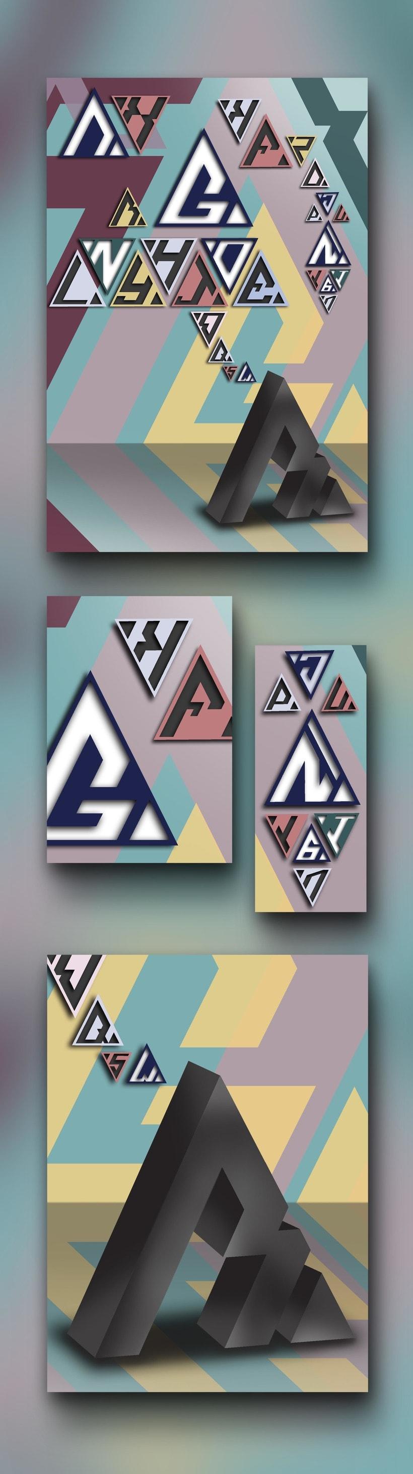 Tipografía triangular - Cartel -1
