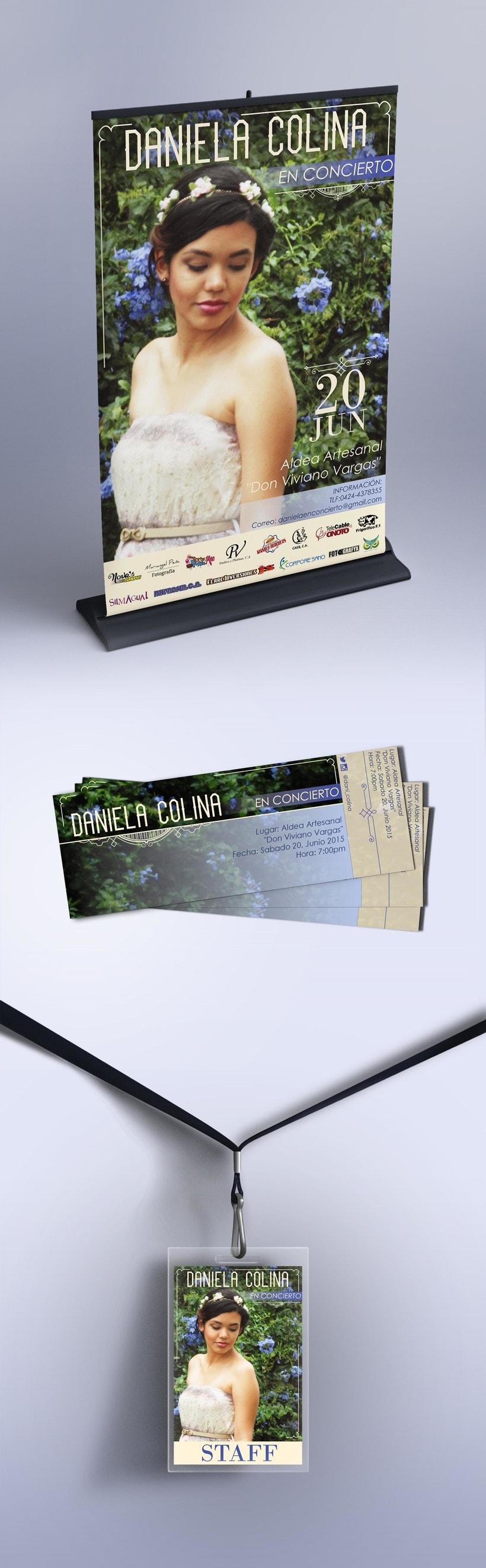 Cartel y entradas de concierto -1