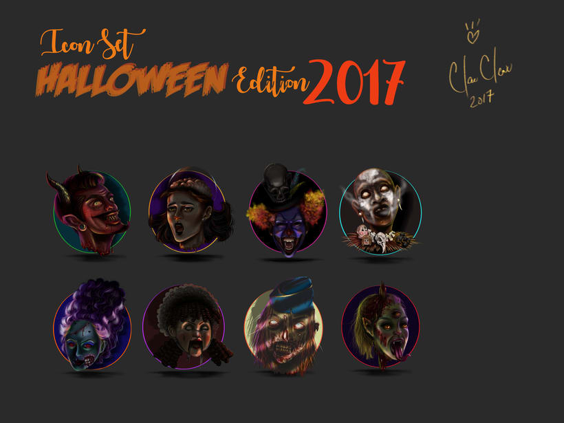 Halloween Icon Set 2017 -1