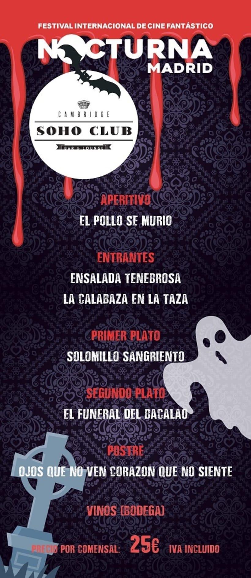 Carta Menú Especial Halloween - Soho Club 1