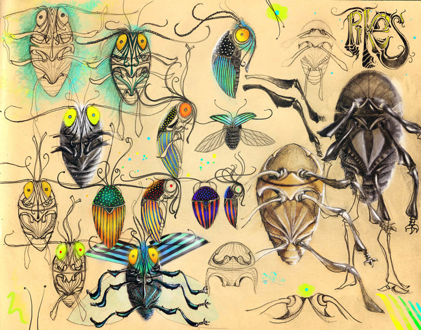 'The Inksect', la secta de insectos ilustrados 8
