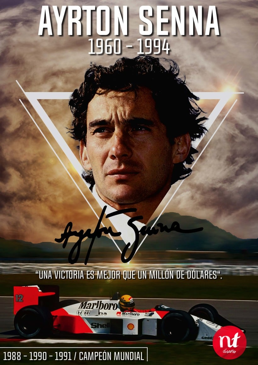 Poster Design Ayrton Senna -1