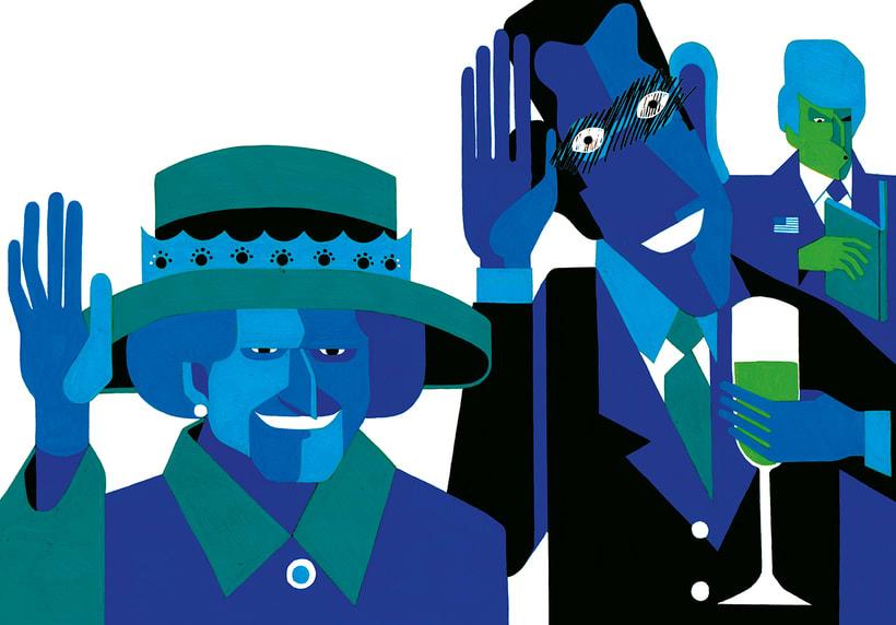 Intensamente azules domestika for Gafas de piscina graduadas