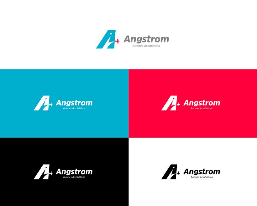 Angstrom - Aviones Acrobáticos (Brand Identity) 2