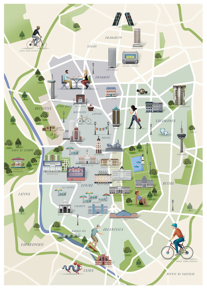 Mapa de Madrid, revista Traveler 3