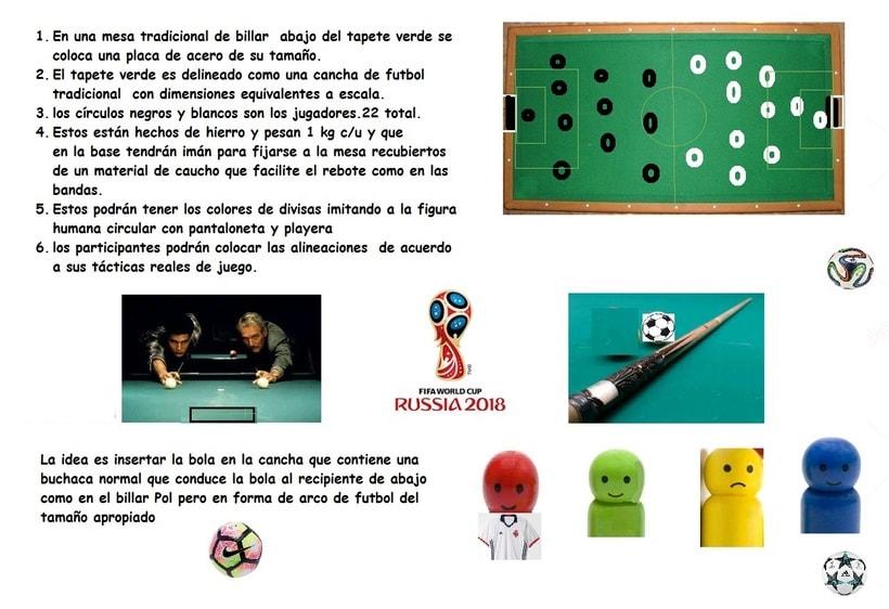 Adaptacion de mesa de billar para jugar futboll -1