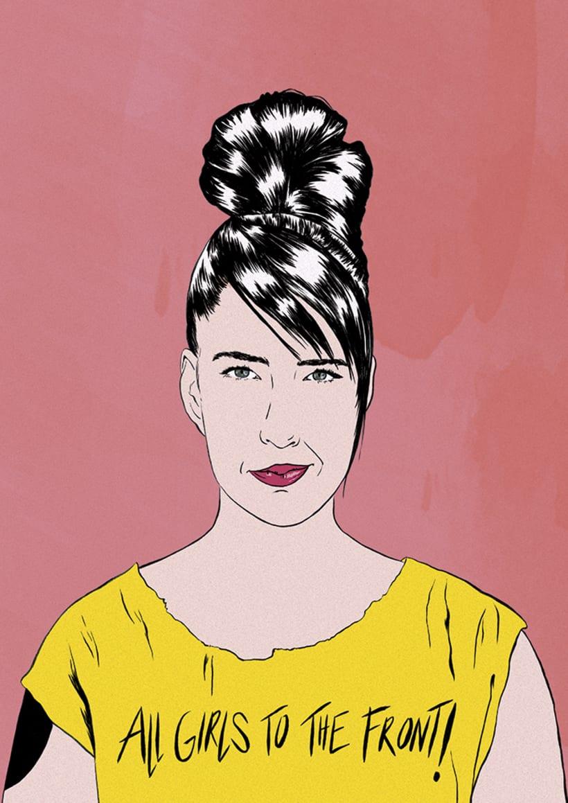 Kathleen Hanna portrait -1