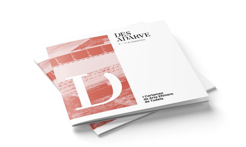 Identitat gràfica i material de difusió del festival Des-Adarve 9
