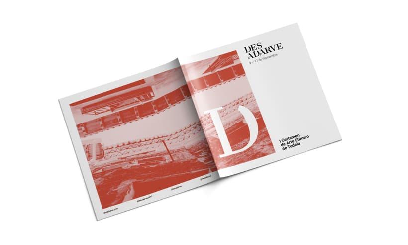 Identitat gràfica i material de difusió del festival Des-Adarve 12