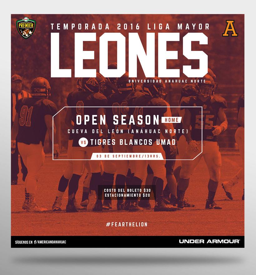 Leones Football - Presencia en Redes Sociales 2